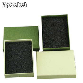 50pcs/Lot Color Jewelry Organizer Box Ring Earring Necklace Pendant Packaging Box Storage Gift Case 7x9x3cm
