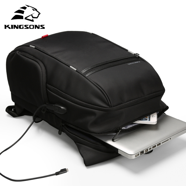 Kingsons Multifunction USB Charging 15 17 inch Laptop Women Backpacks Fashion Female Mochila Travel backpack Anti theft