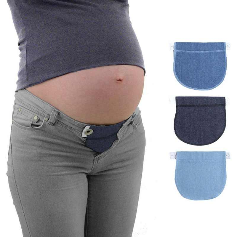 1PC New Style Women Pregnancy Pregnant Pants Belt Extension Buckle Button Lengthening Extended