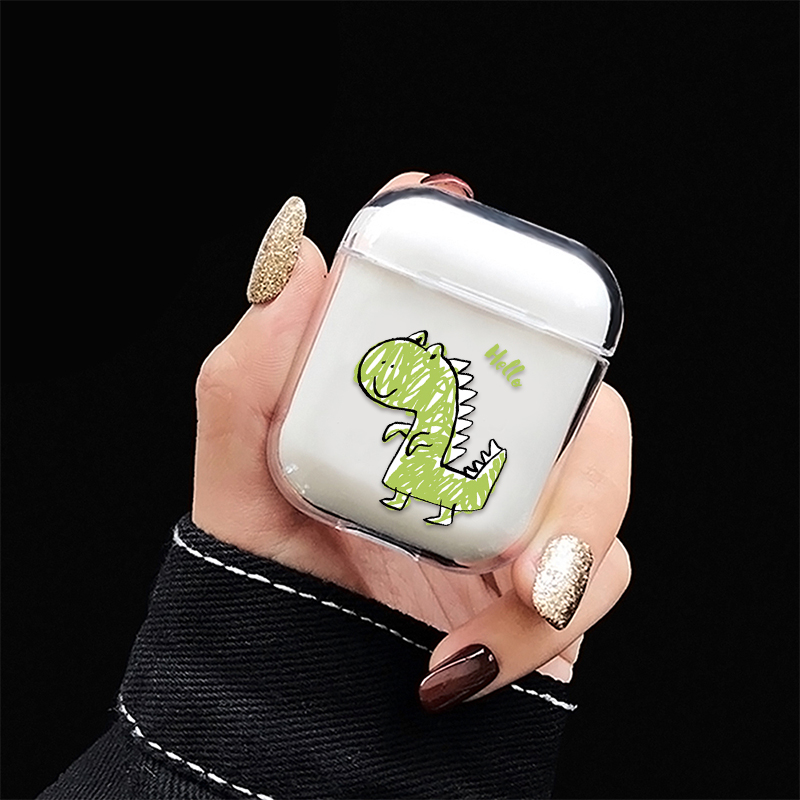 Earphone Case For Airpods 2 Cute Dinosaur Pattern Case For AirPods Bluetooth Wireless Charging Box Case Hard PC Protective Cover
