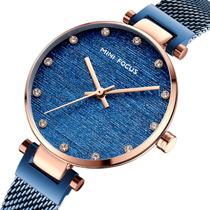 Image 3 - MINI FOCUS Women Watches Brand Luxury Fashion Casual Ladies Wrist Watch Waterproof Blue Stainless Steel Reloj Mujer Montre Femme