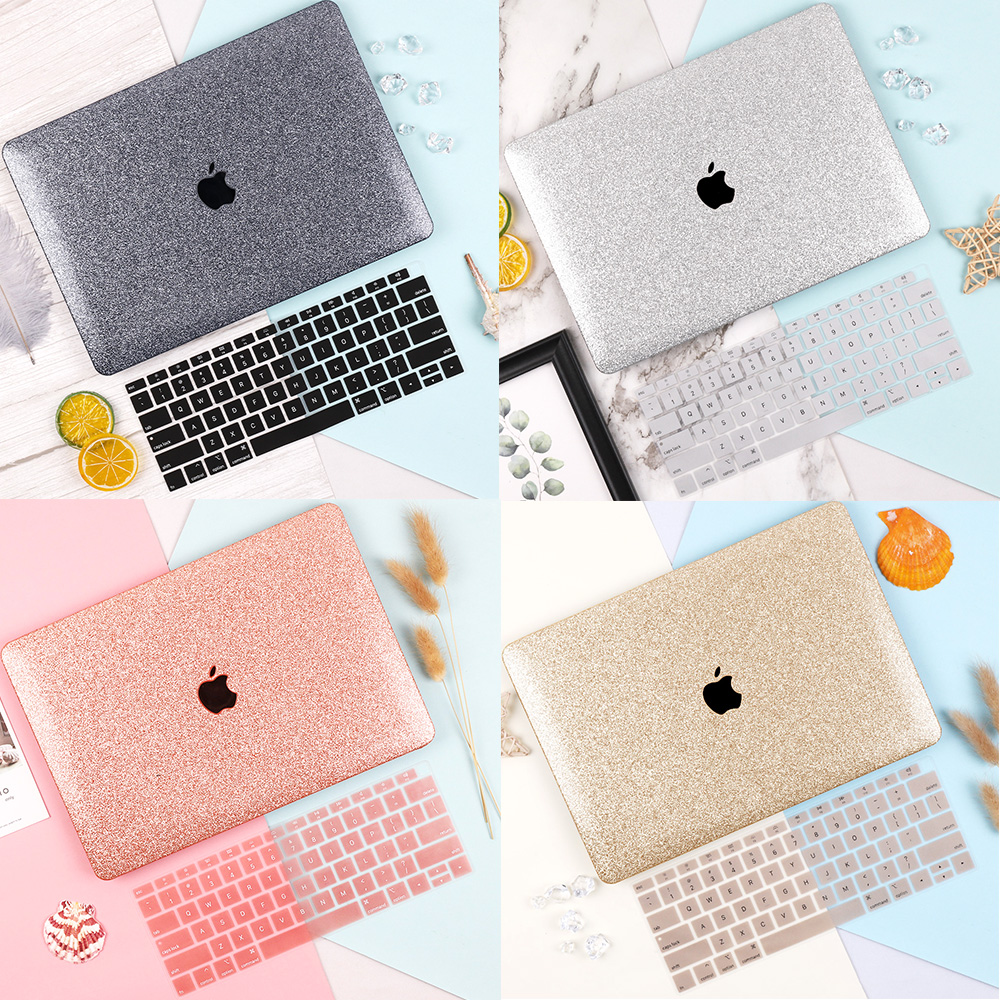 Laptop Case For MacBook Air Retina 11 12 13 15 Mac Book Pro 13.3 15.4 Inch Touch Bar 2019 2018 Hard Shell Sleeve +Keyboard Cover