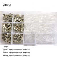 120/320Pcs /Set Insulated Wire Connector Electrical Wire Crimp Terminals 2.8/4.8/6.3mm Spade Connectors Assortment Kit