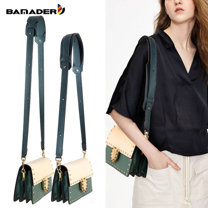 BAMADER High Quality Genuine Leather Bag Strap Ladies Wide Shoulder Strap 81CM-118CM Adjustable Fashion Women's Bag Accessories