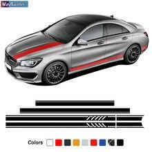 Выпуск AMG, боковые полосы, наклейка на крышу автомобиля, Женская крыша для Mercedes Benz CLA Class W117 C117 X117 C118 X118 CLA45 35