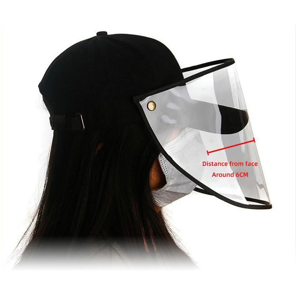 Anti Droplet Dust-proof Full Face Covering Detachable Visor Baseball Cap Hat Anti-Fog Shield Visor Covers