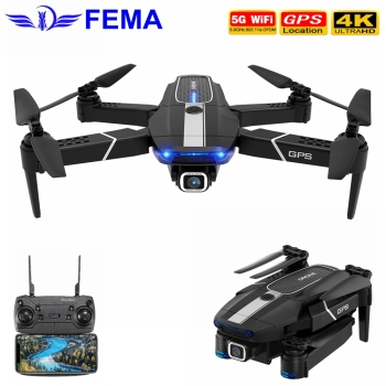 FEMA E525 E525S RC Drone GPS Follow Me with 4K/ 1080P 5G WIFI FPV HD Wide Angle Camera Foldable Mini Dron Quadcopter E520S SG907