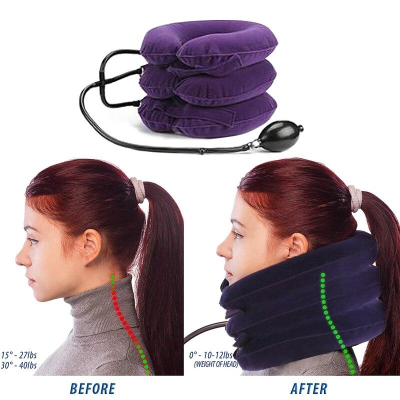 neck pillow Hot 3 Layer Inflatable Shoulder Neck Cervical Brace Neck Shoulder Pain Relax fatigue massage neck Health Care
