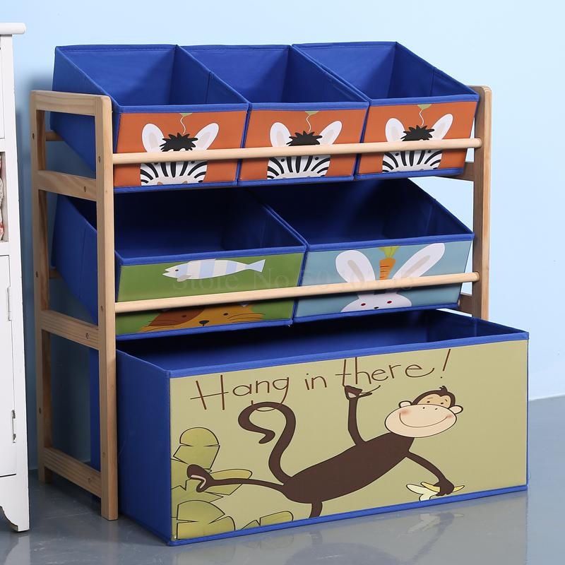 Solid Wood Toy Rack Storage Rack Toy Box Finishing Child Toy Cabinet Home Toy Storage Artifact