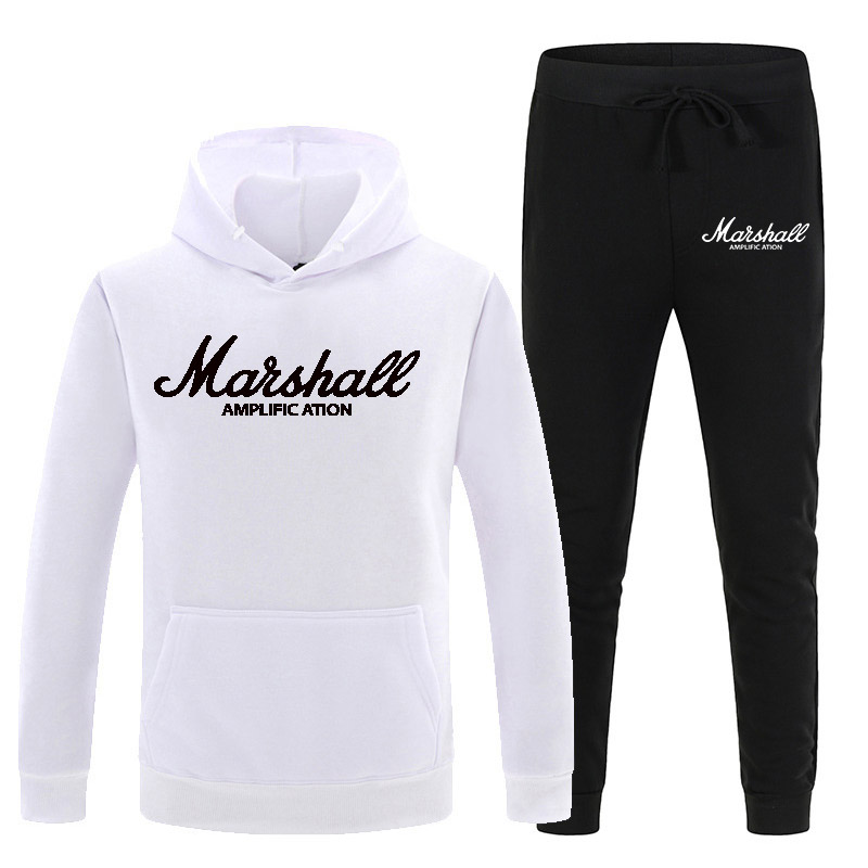 New Sportswear Sets Men Fleece Warm Tracksuit Men Printed Hoodies Fashion Hooded Sweatshirts Hoodies+Sweatpants 2-piece Set XXXL