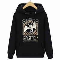 Led Zeppelin Herren Madison Square Garden 1975 schwarz Neue Tops 2018 Druck Buchstaben Männer Hoodies Sweatshirts 100% Baumwolle