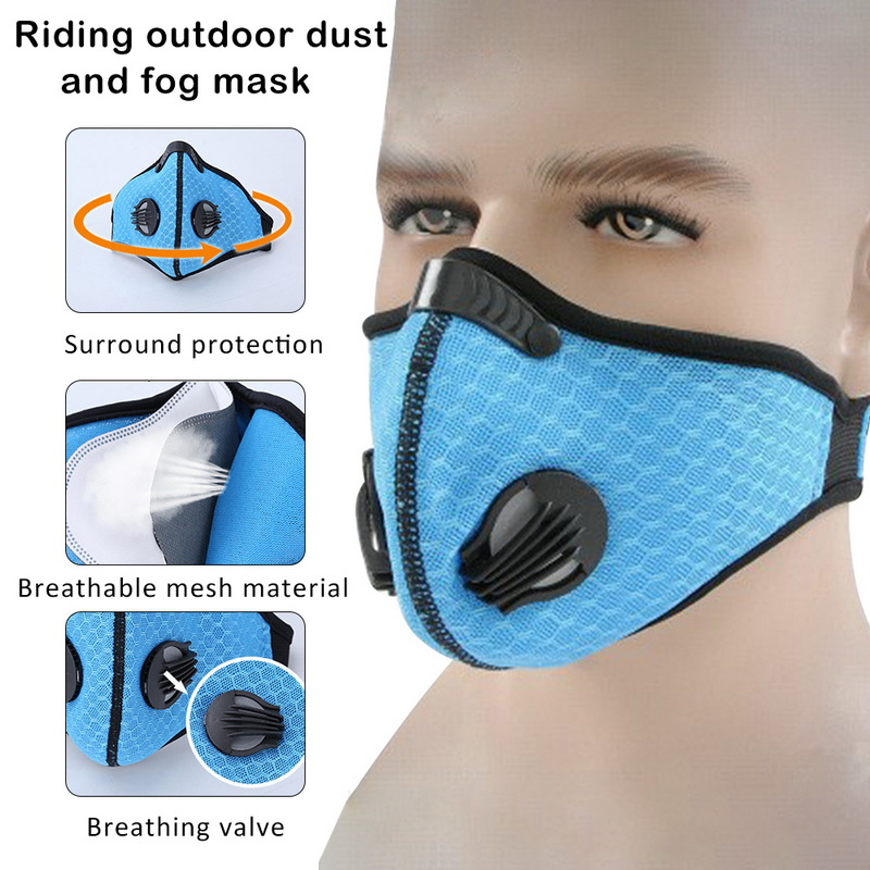 Filter Activated Carbon  2.5 Anti-Pollution Running With Cycling Mask KN95 Antiviral Coronavirus Sport Face Mask 4