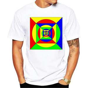 Shirt Short-Sleeved Casual Model Luo Bottoming Geometric-Pattern Xin Colorful