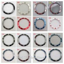 Lunette en céramique/titane, 38mm, noir bleu blanc rouge, pour parnis Automatic montre pour hommes (16Types), 40mm