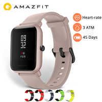 Angielska wersja Amazfit Bip Lite inteligentny zegarek Huami Amazfit Bip Lite zegarek mężczyźni 45 dni żywotność baterii 3ATM tętno zegarek z wyświetlaczem