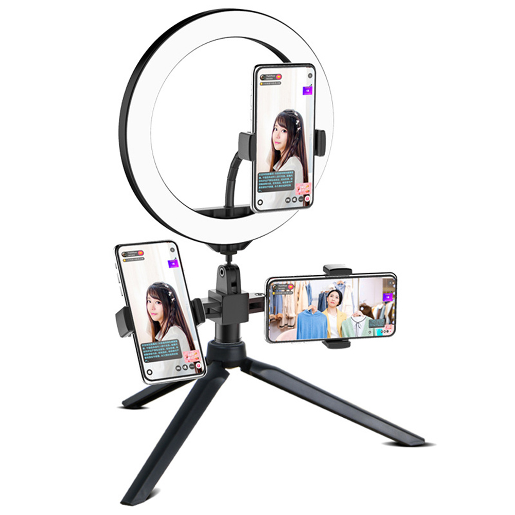 New Hot 10 Inch LED Ring Light Lamp Selfie Camera Phone Studio Tripod Stand Dimmable Adjustable Angle