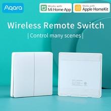 Aqara Draadloze Schakelaar Voor Xiaomi Smart Home Light Controller Zigbee Wifi Draadloze Sleutel Muur Switch Werken Met Mi Aqara Hub