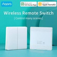 Aqara беспроводной переключатель для Xiaomi умный дом контроллер света ZigBee wifi беспроводной ключ настенный выключатель работает с Mi Aqara Hub