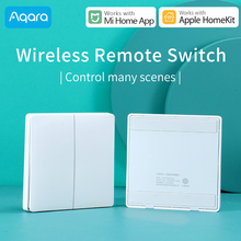 Aqara interruptor inalámbrico para Xiaomi, controlador de luz de casa inteligente ZigBee, wifi, clave inalámbrica, enchufe de pared compatible con Mi Aqara Hub