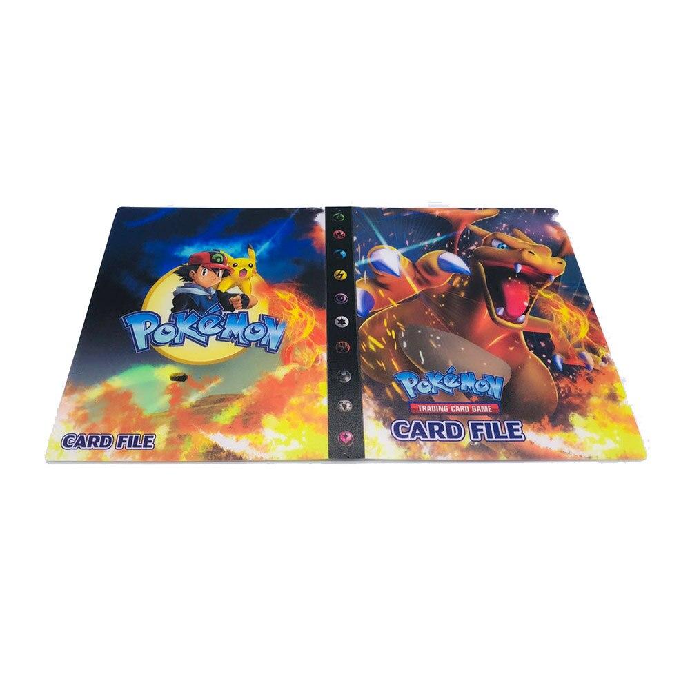 240 шт. держатель Альбом игрушки коллекции Pokemones карты Альбом Книга Топ загруженный список игрушки подарок для детей - Цвет: 3