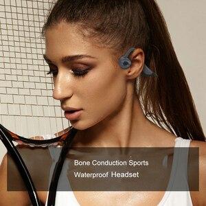 Image 4 - IPX8 wodoodporne słuchawki Bluetooth 5.0 z przewodnictwem kostnym bezprzewodowy zestaw słuchawkowy wbudowana karta pamięci 16GB Mic słuchawki sportowe słuchawki douszne