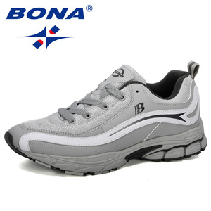 Image 1 - بونا جديد مصمم الاتجاه احذية الجري الرجال رياضية عالية الجودة في الهواء الطلق الدانتيل متابعة أحذية للمشي Zapatillas Hombre مريحة