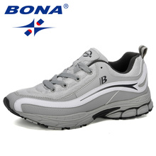 BONA New Designer Trend Running Shoes Mens High Quality Sports Outdoor Lace up Jogging Shoes Zapatillas Hombre Comfortable