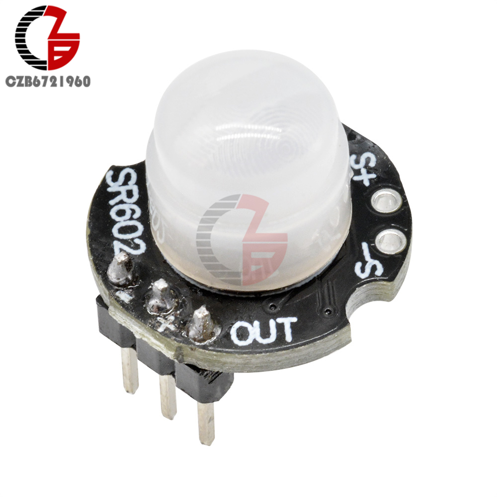 Mini <font><b>SR602</b></font> Motion Sensor Detector Module 3.3V-15V Pyroelectric Infrared IR Sensor Switch for Human Body Induction Light Alarm image