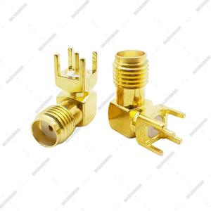 Image 5 - 3000pcs Gilt SMA Female PCB Right Angle Connector Welding Jack Thru Hole Plug 90 Degree PCB Mount Connector RF Adapter