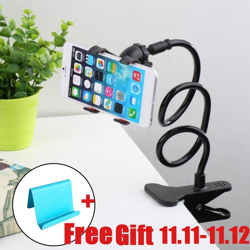 New Universal Flexible Holder Arm Lazy Mobile Phone Gooseneck Stand Holder Stents Flexible Bed Desk Table Clip Bracket For Phone