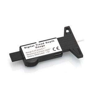 Image 3 - 0 25.4mm הדיגיטלי צמיג צריכת מד LCD תצוגה ברזולוציה 0.01mm סוללה כלולה