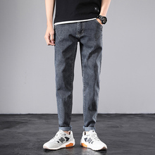 Spring 2020 New Brand Menswear Denim Trousers High Quality Men's Stretch Jeans Men Cotton Gray Slim fit Jeans 27-36 рубашка burton menswear london burton menswear london bu014emesuw5