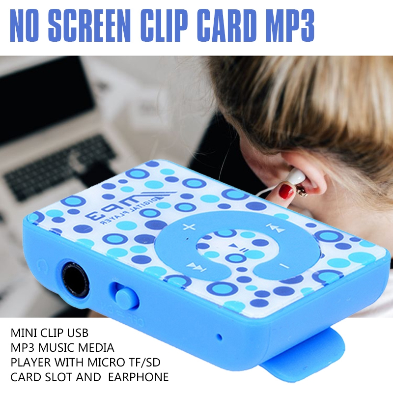 Mini Clip USB MP3 Music Media Player with Micro TF/SD Card Slot and Earphone