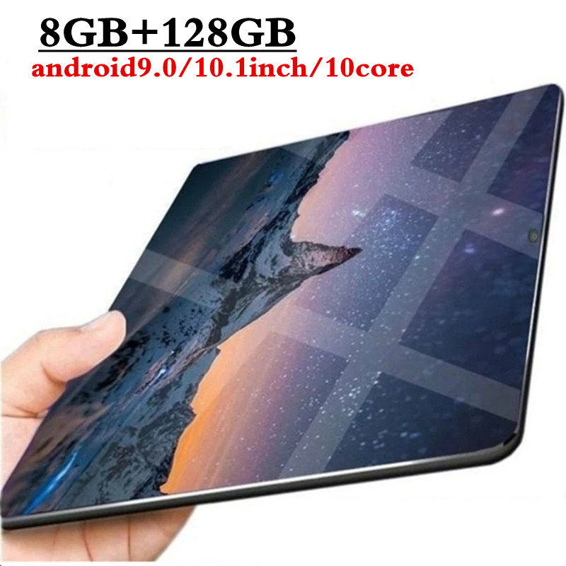 10.1 Inch 8GB Ram + 128GB Rom 3G 4GLTE Phone Call Tablets 10 Core Tablet Pc Android 9.0 Tablet Pc Tablet WiFi GPS