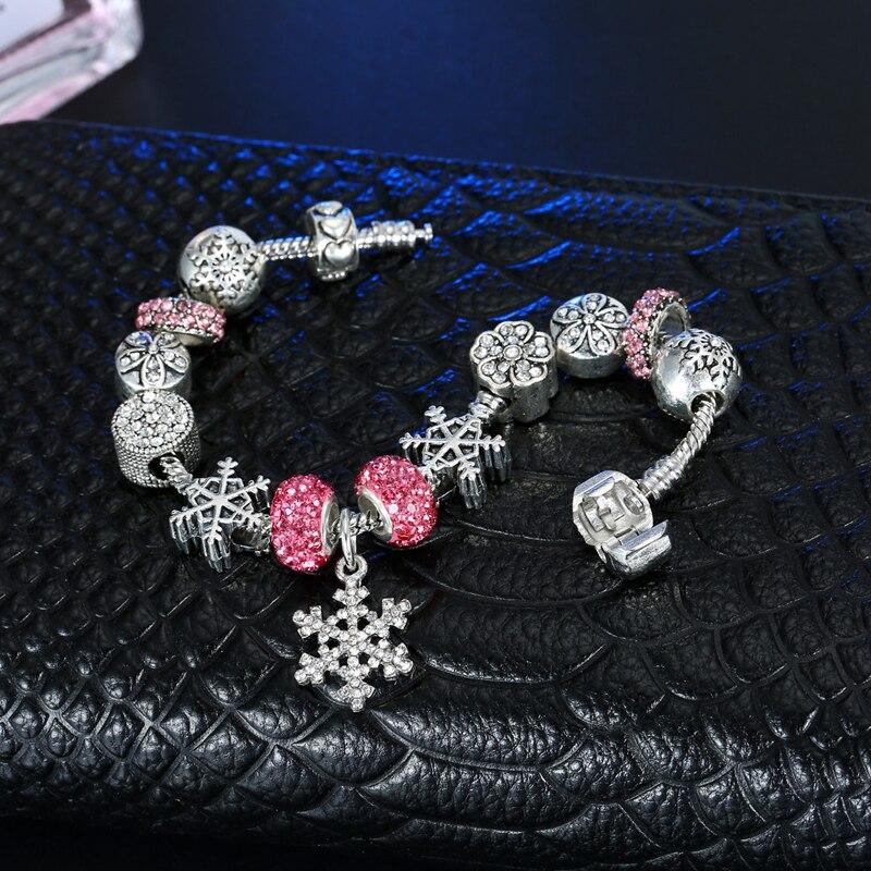 90% ная скидка! Античная 925 Серебряное обручальное кольцо Винтаж серебряные ювелирные изделия браслет, браслет на запястье с подвеска из снеж... - 4