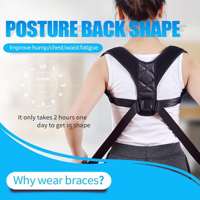 Orthèse soutien ceinture réglable Posture arrière correcteur clavicule dos épaule lombaire Correction de Posture