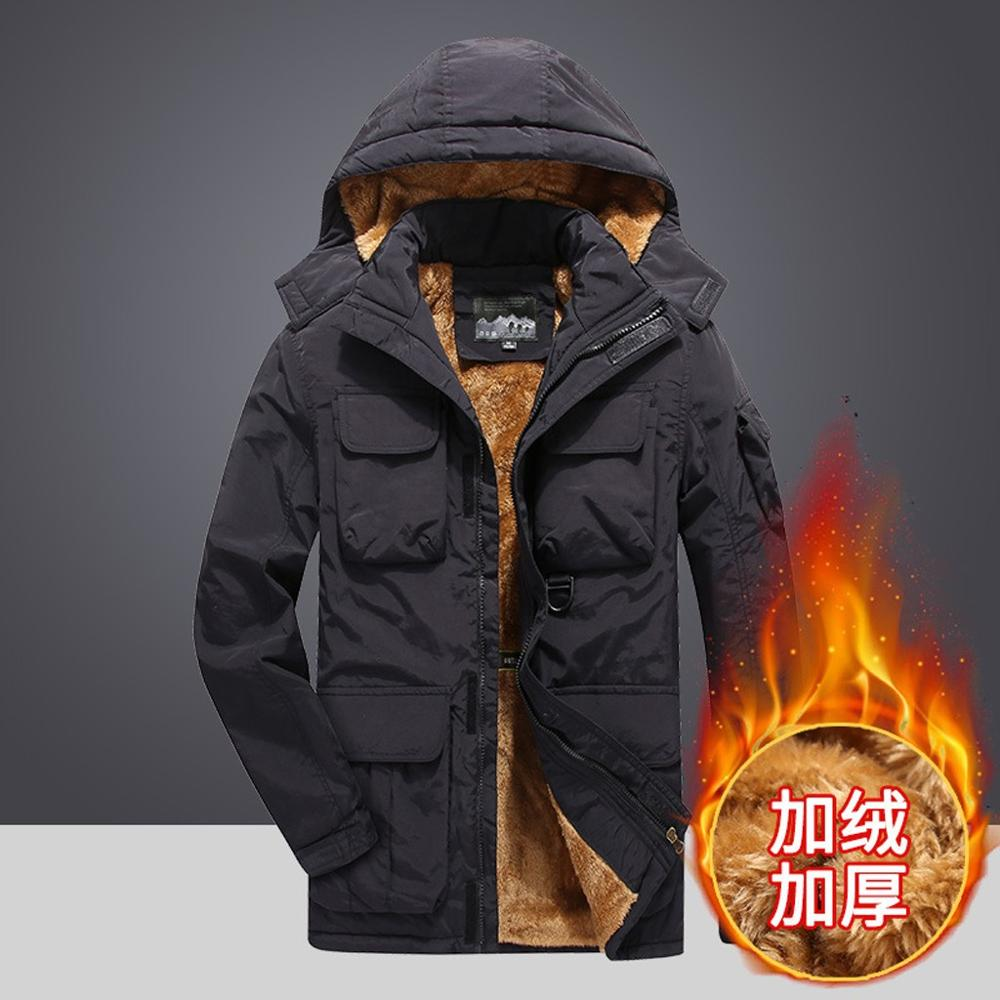 Модное мужское осенне зимнее теплое ветрозащитное пальто, костюм для альпинизма, повседневная одежда с карманами и хлопковой подкладкой, спортивный топ, пальто, 2019|Походные куртки|   | АлиЭкспресс