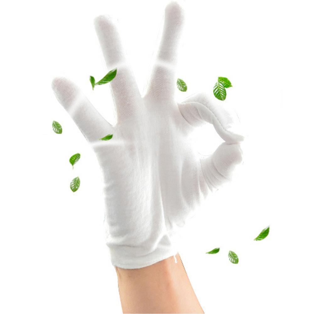 6 Pair Working Serving Wear Resistant Hand Protective Gloves Cotton Blends Manicure Sweat-proof Labor Insurance Non-Slip
