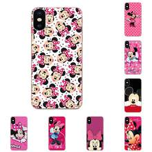 Minnie Mouse Girls Cute TPU Covers For Huawei Honor 4C 5A 5C 5X 6 6A 6X 7 7A 7C 7X 8 8C 8S 9 10 10i 20 20i Lite Pro(China)