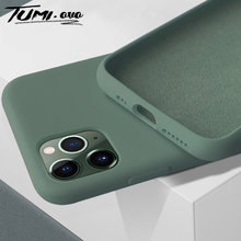 Nueva funda de goma de Color para iPhone 7 8 6 6S Plus Original funda de silicona líquida Color caramelo Coque para iPhone X XS 11 Pro Max XR(China)