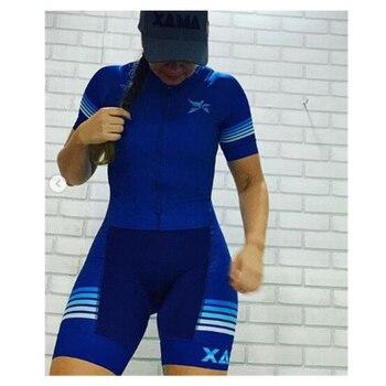 Xama profissional triathlon skinsuit camisa de ciclismo define macaquinho feminino roupas ir pro equipe macacão Roupas de trabalho roupas femininas com frete gratis  macacão ciclismo feminino ciclismo feminino 1