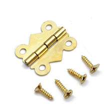 180 Degrees Butterfly Mini Hinges Retro Butt Hinges for Jewelry Chest Box Wood Cabinet Furniture Hardware(China)