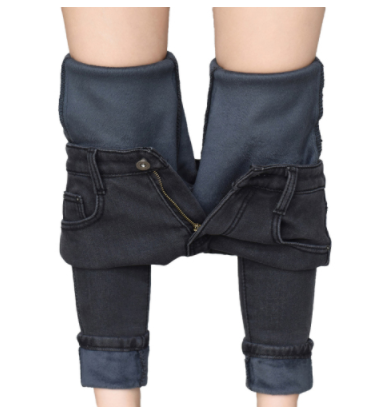 Jeans For Women Winter Plus Size Warm Velvet Thicken Skinny Jeans Woman High Waist Ladies Stretch Denim Pencil Pants Trousers