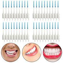 40 шт зубочистки зубов зубная нить выбор межзубная кисточка