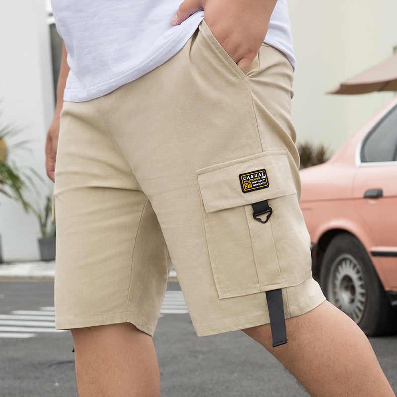קוריאה סגנון 28-50 אינץ Men'S מכנסיים קצרים מטען 2020 קיץ מזדמן גדול יותר כיס קלאסי 95% כותנה מותג זכר קצר מכנסיים Trouers