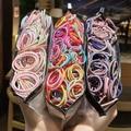 100/50 шт. милые красочные эластичные повязки для волос для девочек, держатель для конского хвоста, резинка, резинка для волос, резинка для воло...