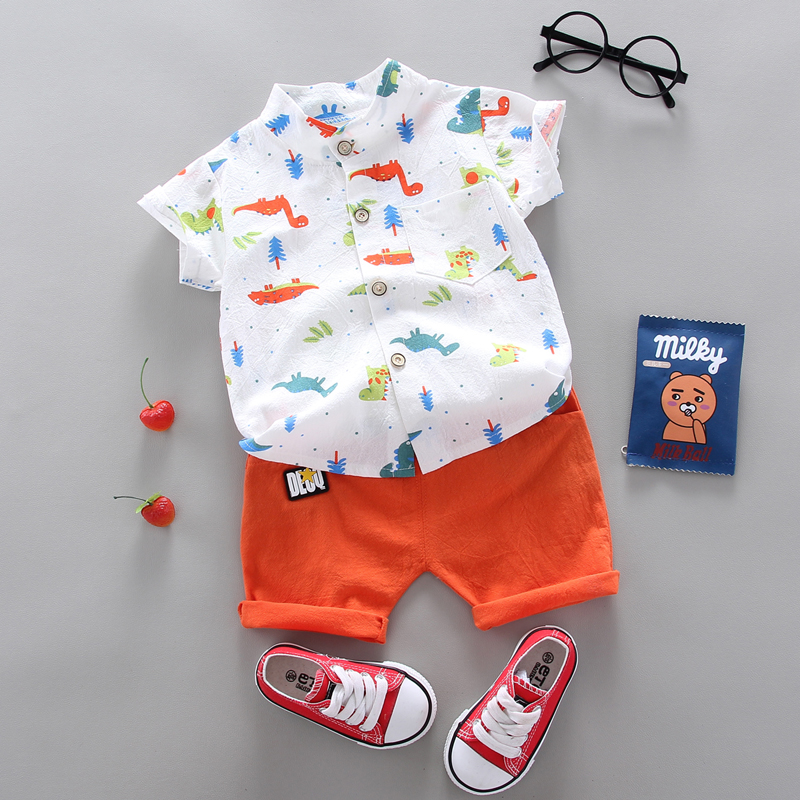 summer Children's suit  Clothes Sets Boys and girls Short sleeve shirt and Pants 2 pieces Clothing sets children's clothing Baby 3