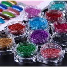 12 Pçs/set Belas Glitter Cores sortidas Artes e Artesanato Glitter, Sombra de Maquiagem Nail Art Pigmento Glitter, Glitter para Lodo