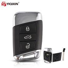 Yiqixin 3 botão inteligente remoto carro chave caso escudo fob para volkswagen vw magotan b8 superb skoda a7 passat variante 2015-2019