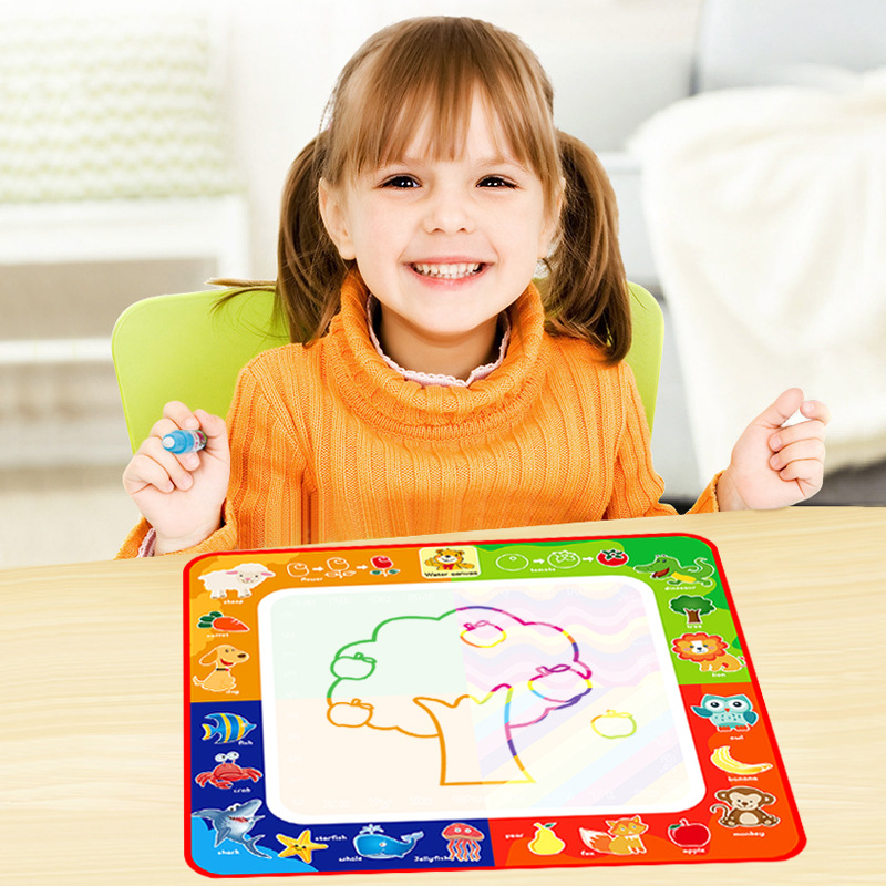 Children Magic Water Canvas 29*29 Multi-functional Water Write Graffiti Doing Homework Animal Canvas Infants Benefit